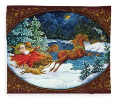 Sleigh Ride Fleece Blanket