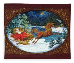 Sleigh Ride Fleece Blanket