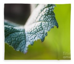 Slice Of Leaf Fleece Blanket