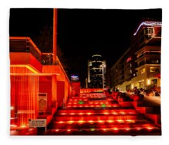 Smale Park At Night Fleece Blanket