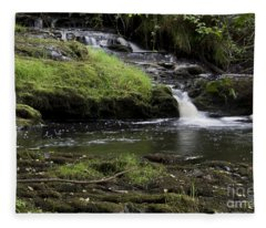 Small Falls On West Beaver Creek Fleece Blanket
