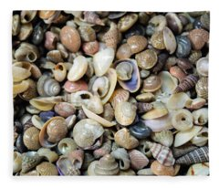 Small Sea Shell Collection Fleece Blanket