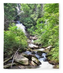 Smith Creek Downstream Of Anna Ruby Falls - 3 Fleece Blanket