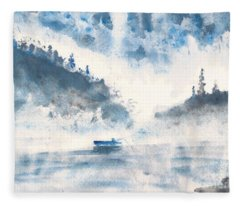 Smoke On The Water  Fleece Blanket