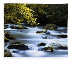 Smoky Stream Fleece Blanket