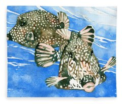 Smooth Trunkfish Pair Fleece Blanket