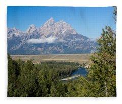 Snake River Overlook Fleece Blanket