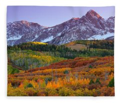 Sneffels Sunrise Fleece Blanket