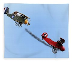 Snoopy And The Red Baron Fleece Blanket