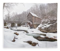 Snowglade Creek Grist Mill 1 Fleece Blanket