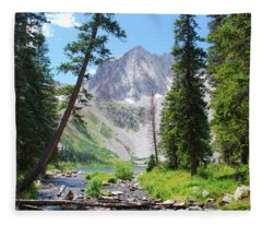 Snowmass Peak Landscape Fleece Blanket