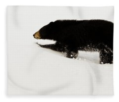 Snowy Bear Fleece Blanket
