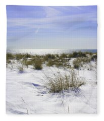 Snowy Dunes Fleece Blanket
