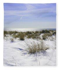 Snowy Dunes Fleece Blanket