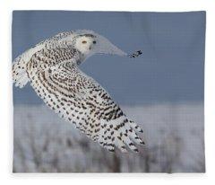 Snowy In Action Fleece Blanket
