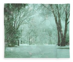 Snowy Winter Night Fleece Blanket