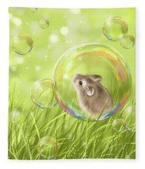 Soap Bubble Fleece Blanket