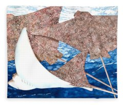 Soaring Eagle Rays Fleece Blanket