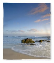 Soft Blue Skies Fleece Blanket