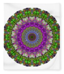 Soft Light - Kaleidoscope Mandala By Sharon Cummings Fleece Blanket