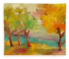 Soft Trees Fleece Blanket