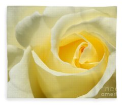 Soft Yellow Rose Fleece Blanket