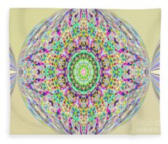 Softness. Art. Yellow Pink Design Fleece Blanket