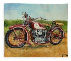 Sokol 1000 - Polish Motorcycle Fleece Blanket