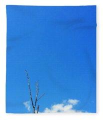 Solitude - Blue Sky Art By Sharon Cummings Fleece Blanket