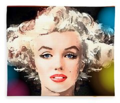 Marilyn - Some Like It Hot Fleece Blanket