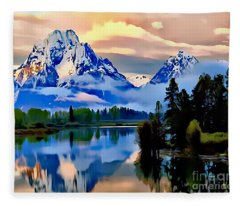 Some Place Some Where Fleece Blanket