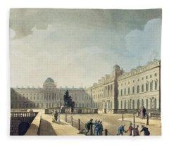 Somerset House, Strand, From Ackermanns Fleece Blanket