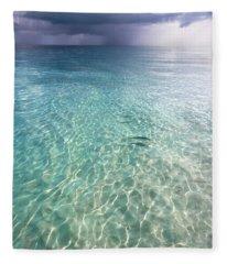 Somewhere Is Rainy. Maldives Fleece Blanket