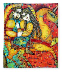 Fairy Paintings Fleece Blankets