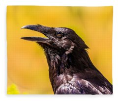 Song Of The Raven Fleece Blanket