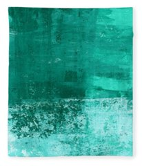 Soothing Sea - Abstract Painting Fleece Blanket