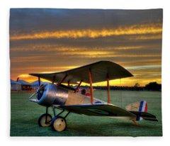 Sopwith Sunset Fleece Blanket