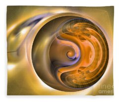Soul Watch - Abstract Art Fleece Blanket