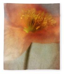 Soulful Poppy Fleece Blanket