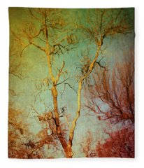 Souls Of Trees Fleece Blanket