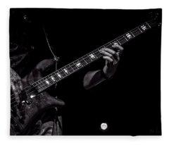 Sounds In The Night Bass Man Fleece Blanket