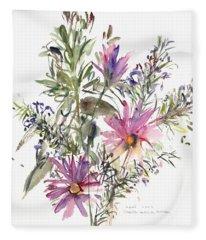 Osteospermum Paintings Fleece Blankets