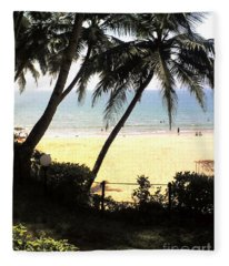 South Beach - Miami Fleece Blanket