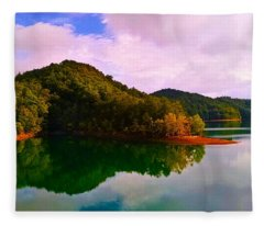 North Holston Lake Mountains Fleece Blanket
