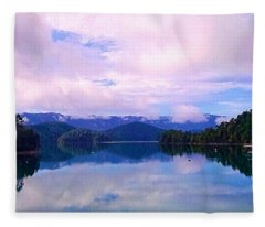 South Holston Lake Tn Fleece Blanket