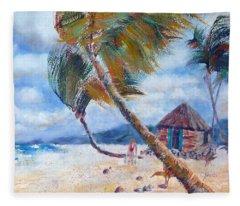 South Pacific Hut Fleece Blanket