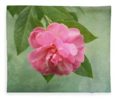 Southern Camellia Flower Fleece Blanket