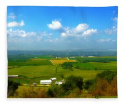 Southern Illinois River Basin Farmland Fleece Blanket