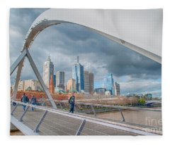 Southgate Bridge Fleece Blanket