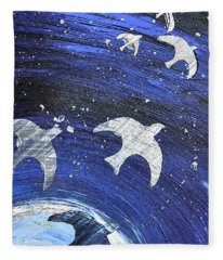 Space Flight Fleece Blanket
